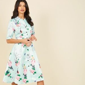 Modcloth- Respectfully Retro Midi Dress